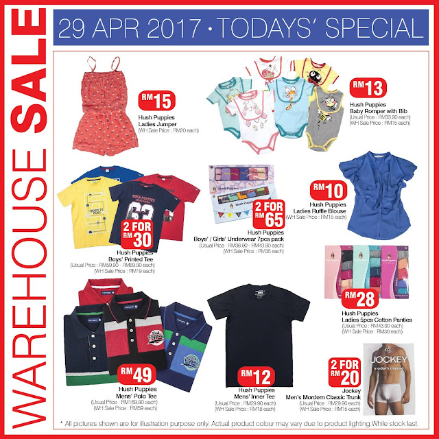 Hush Puppies Apparel Warehouse Sale Special