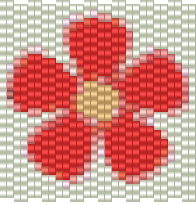 Free peyote pattern flower