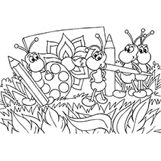 Printable Images Ant Coloring Sheet