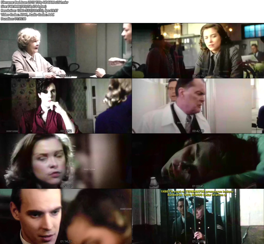 Red Joan 2019 720p HDCAM x264 | 480p 300MB | 100MB HEVC Screenshot