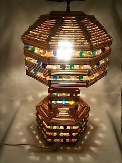lampu hias cantik dari stik es krim
