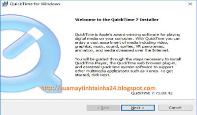 Cài đặt QuickTime - 08