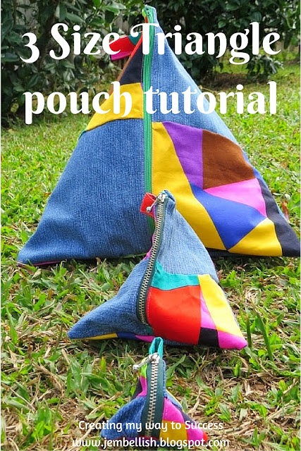 3 Size Triangle Pouches