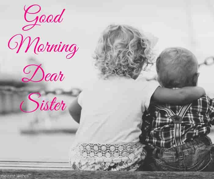 good morning baby sister images