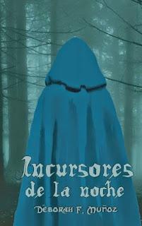 portada de la novela romántica paranormal ciberpunk Incursores de la noche