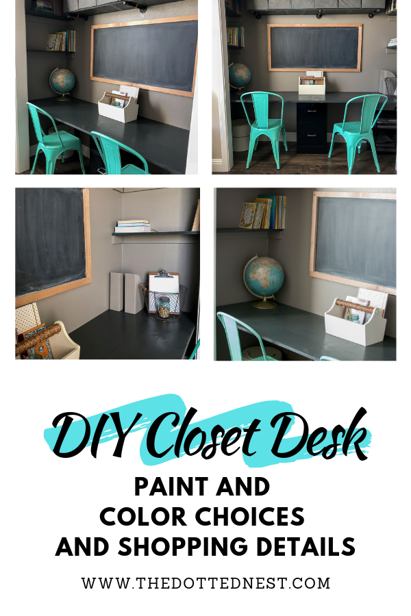 DIY Closet Desk Paint and Color Choices and Shopping Details