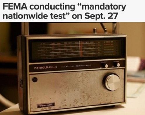 """Teste nacional obrigatório do sistema de """"ALERTA DE EMERGÊNCIA"""" a ser conduzido em 27 de setembro de 2017"""