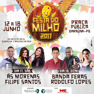 Com programação diversificada, Baraúna promoverá tradicional Festa do milho; confira