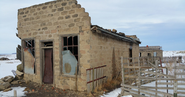 Abandoned building in Ludlow Colorado Ghost Town