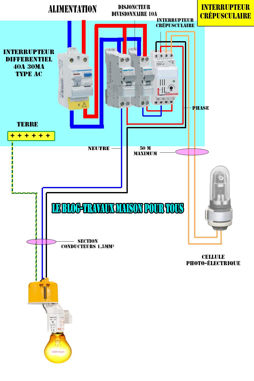 Connu Schéma électrique d'un interrupteur crépusculaire - Le blog  XT65