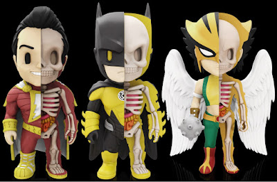 DC Comics XXRAY Dissection Series 5 Vinyl Figures by Jason Freeny & Mighty Jaxx – Yellow Lantern Batman, Shazam & Hawkgirl