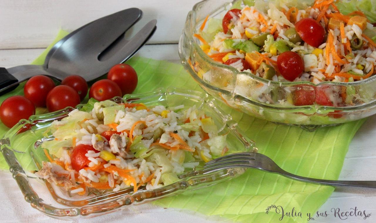 Julia y sus recetas ensalada de arroz - Ensalada de arroz light ...