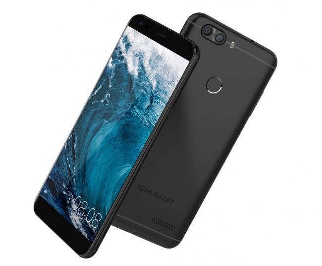 Image result for Sharp A2 Lite - 3/32 GB - 4G LTE - Midnight Black