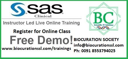 Biocuration - SAS Trainings