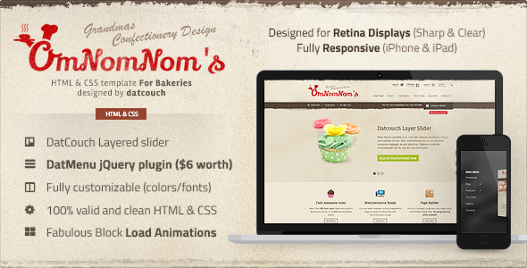 Responsive restaurant website theme