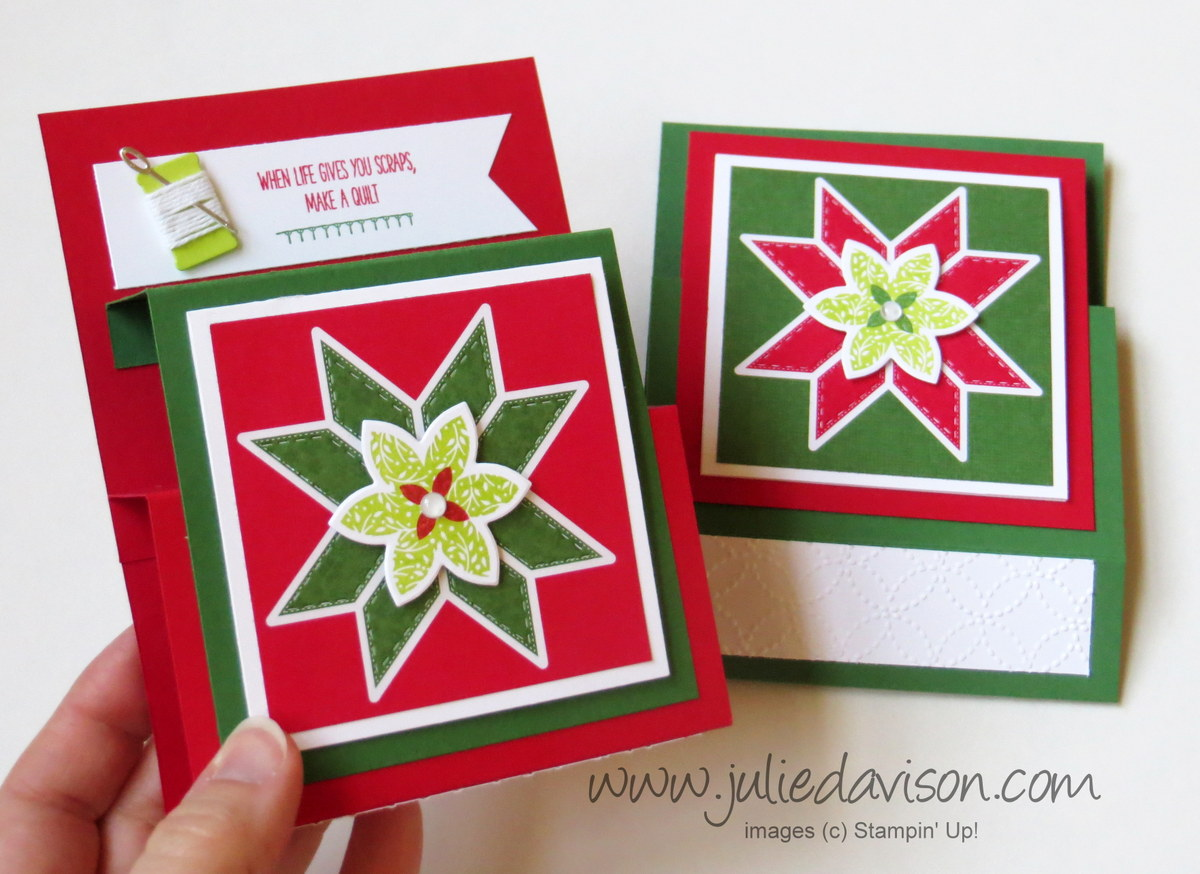 Julie S Stamping Spot Stampin Up Project Ideas By Julie Davison Video Christmas Quilt Step Panel Card Tutorial