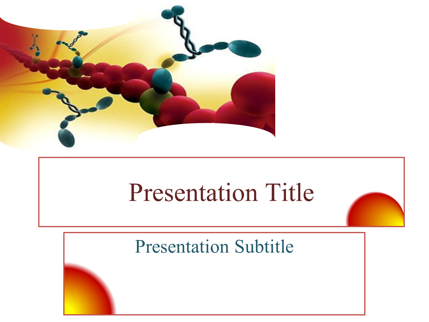 Free Genetics Biochemistry Powerpoint Theme Free Medical