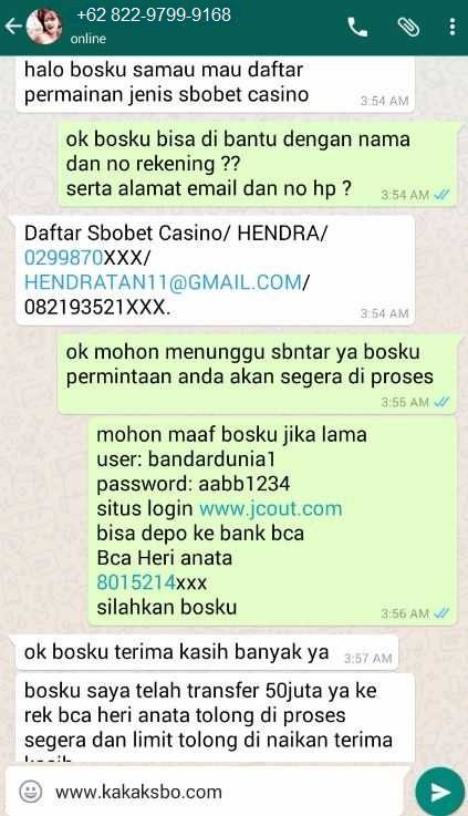 Pasang Nomor Togel Via Sms Whatsapp