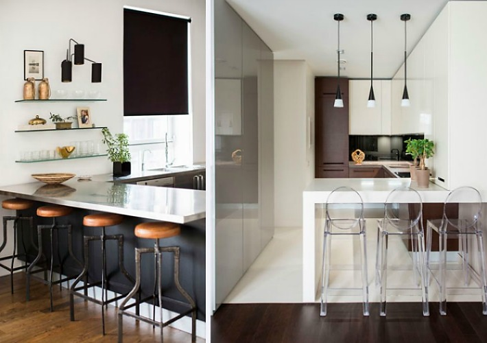 Medidas y consejos para instalar una barra en la cocina for Cocinas en u con barra