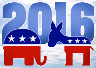 The democrat and republican mascots election 2016