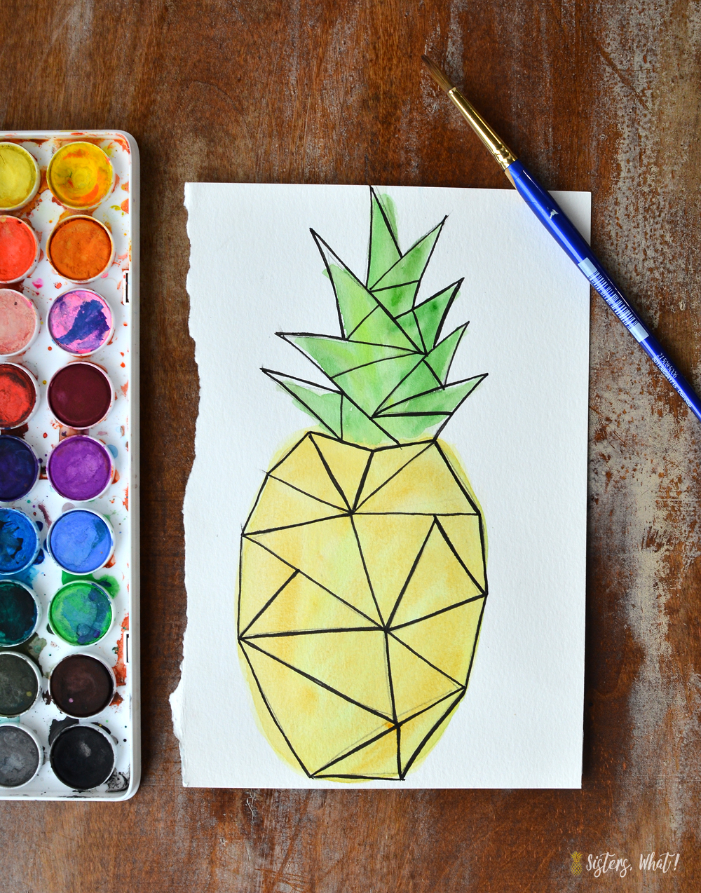 Download this free geometric watercolor 5x7 or card printable