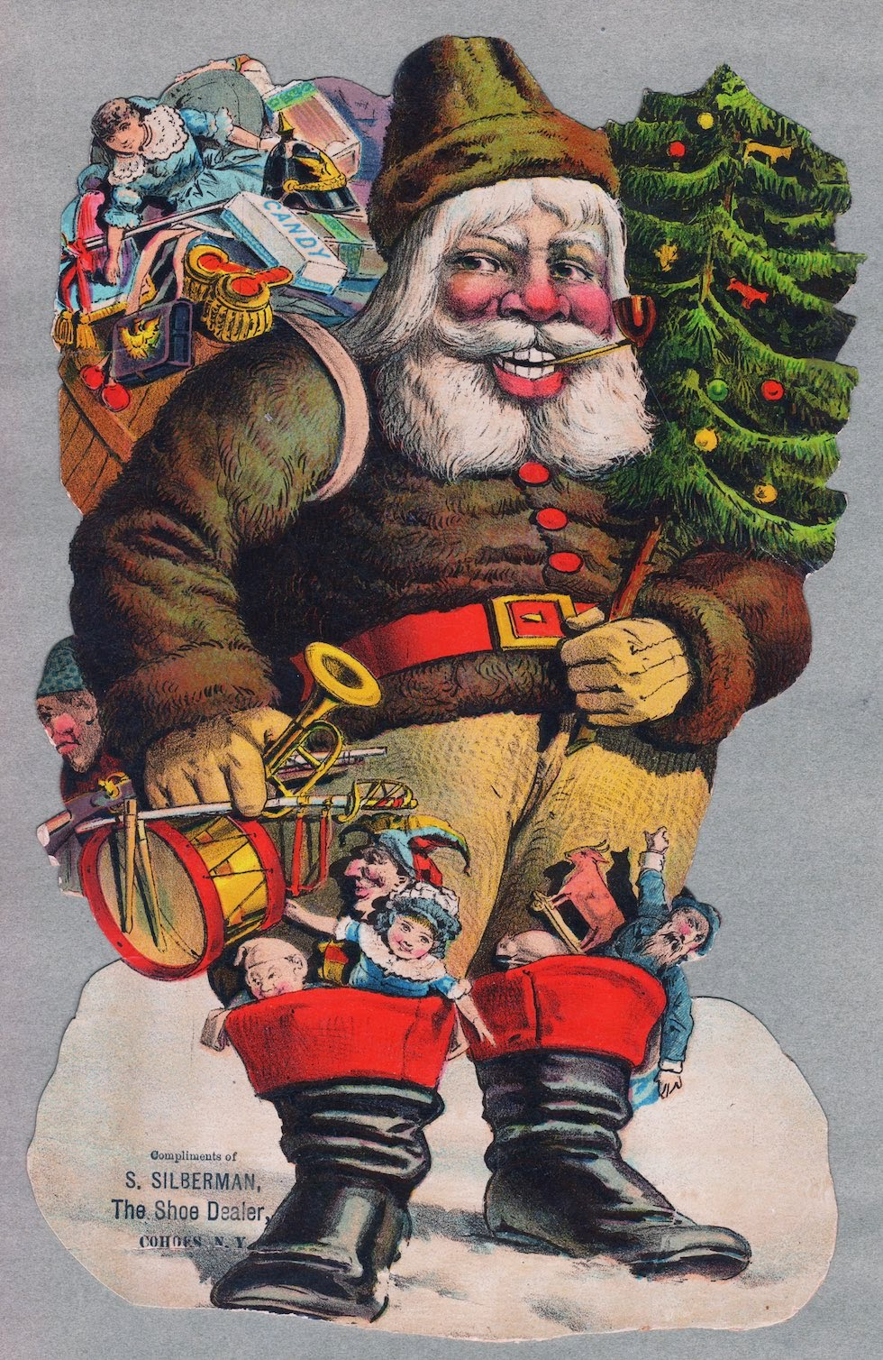10 vintage sinister santa christmas cards from the late