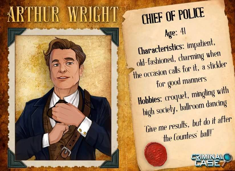 Criminal Case Mysteries Of The Past Arthur Wright