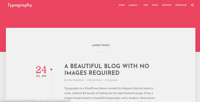 Typography Responsive Blogger Templates