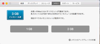 3GBインストール済み 1GB 2GB