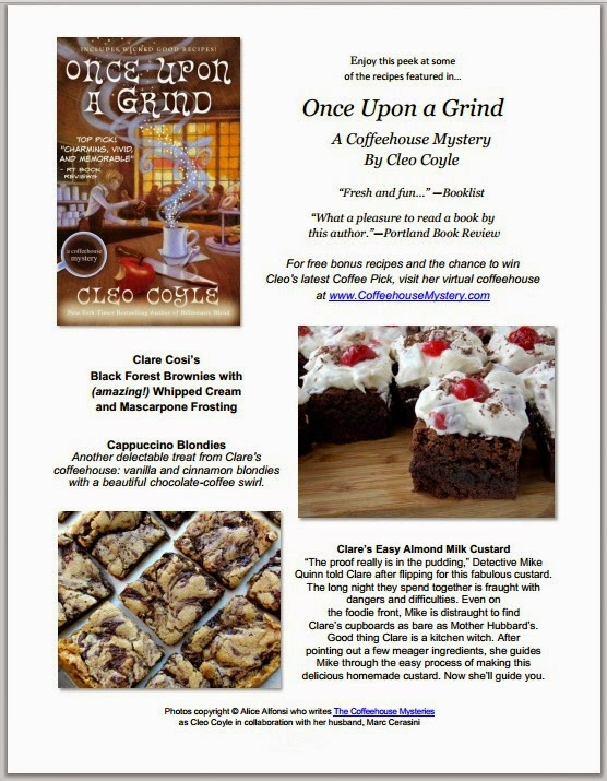 http://coffeehousemysteries.com/userfiles/file/OnceUponaGrind_Recipes_Cleo-Coyle.pdf