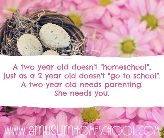 A 2 year old needs a parent, not a teacher
