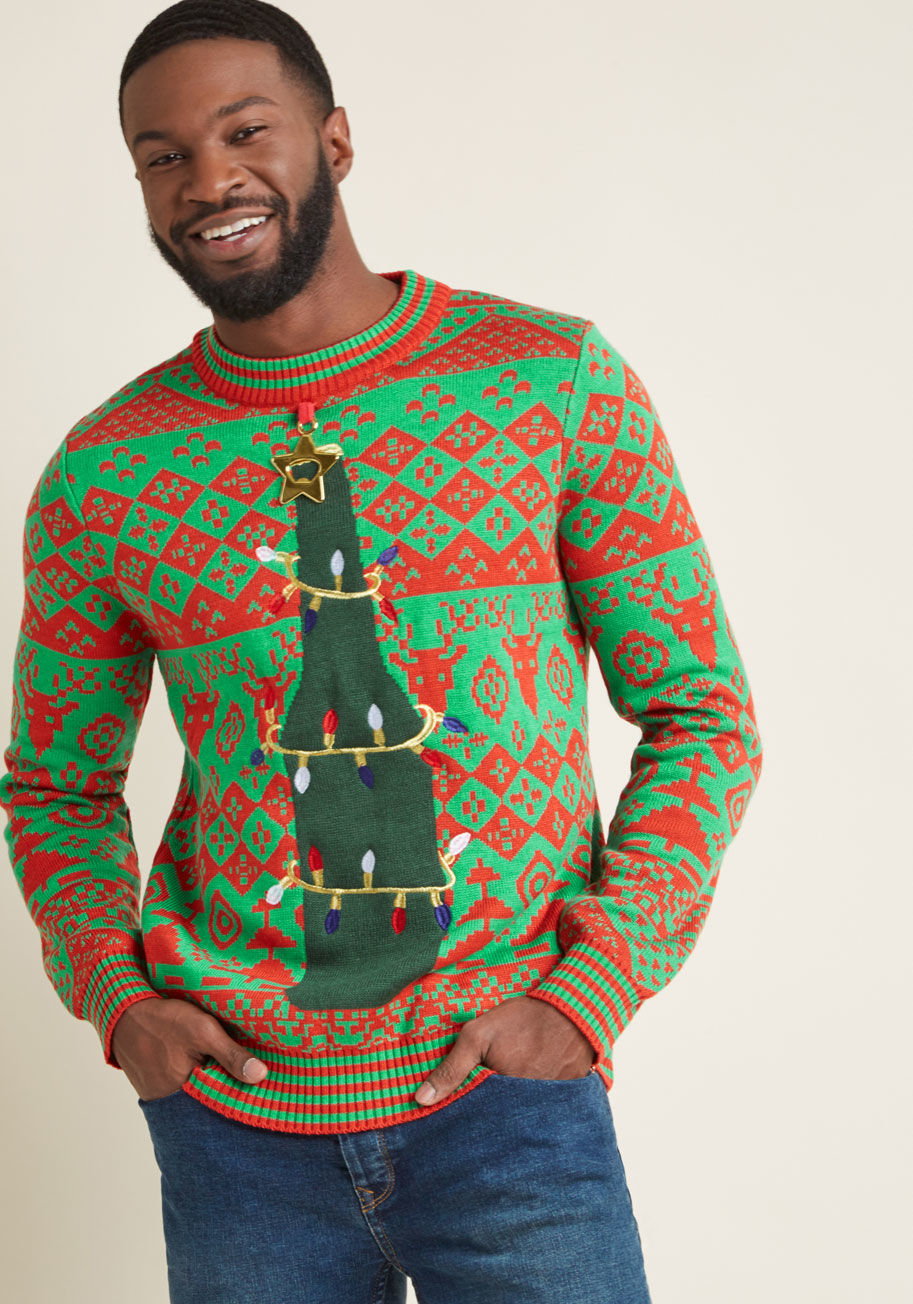 all i want for christmas is brew mens sweater modcloth