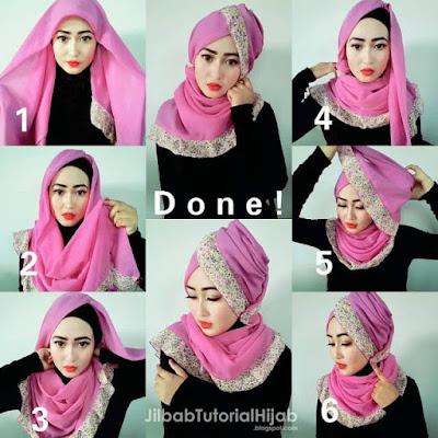 Tutorial Hijab Segi Empat yang Sesuai dengan Pakaian Kebaya Wisuda