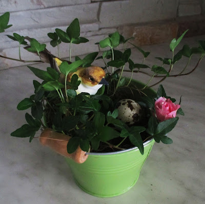 muratti. pääsiäinen, lintu, kukka, asetelma