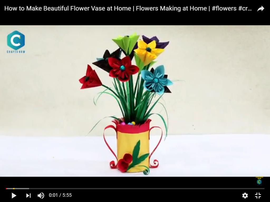 How To Make Beautiful Flower Vase At Home Watch Video Images