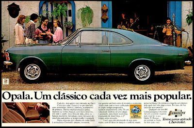propaganda Opala - 1978. brazilian advertising cars in the 70s; os anos 70; história da década de 70; Brazil in the 70s; propaganda carros anos 70; Oswaldo Hernandez;
