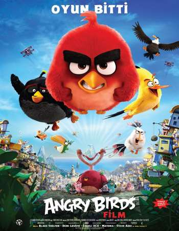 Poster Of Angry Birds 2016 Dual Audio 720p BRRip ORG [Hindi - English] ESubs Free Download Watch Online downloadhub.in