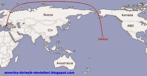 Türkiye'den Hawaii'ye