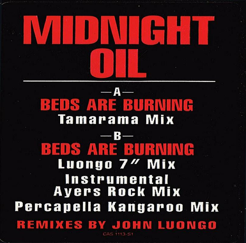 Radio Carrera Midnight Oil Beds Are Burning Maxi Promo
