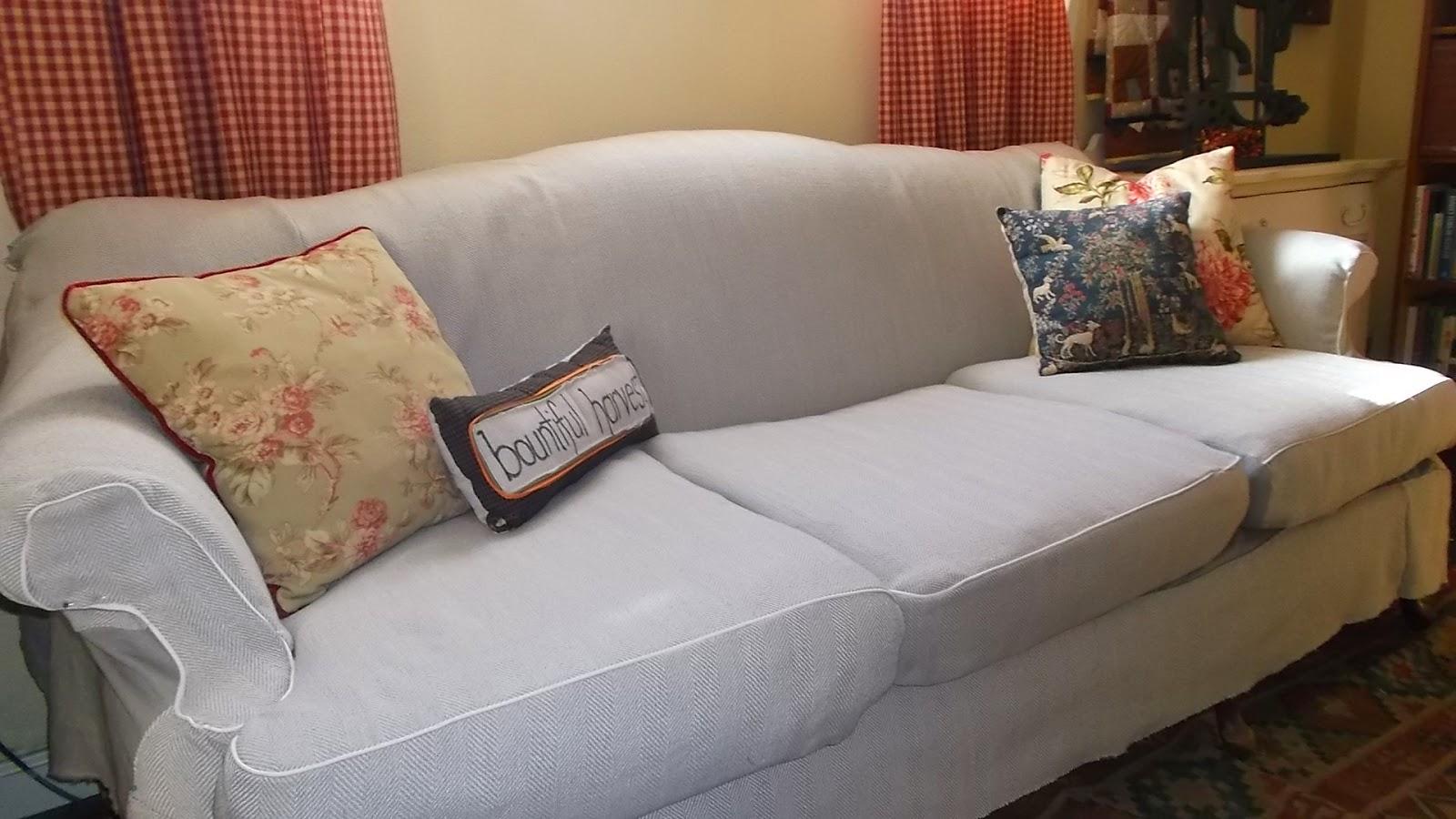 Living A Cottage Life Camel Back Sofa Slipcover Part 2