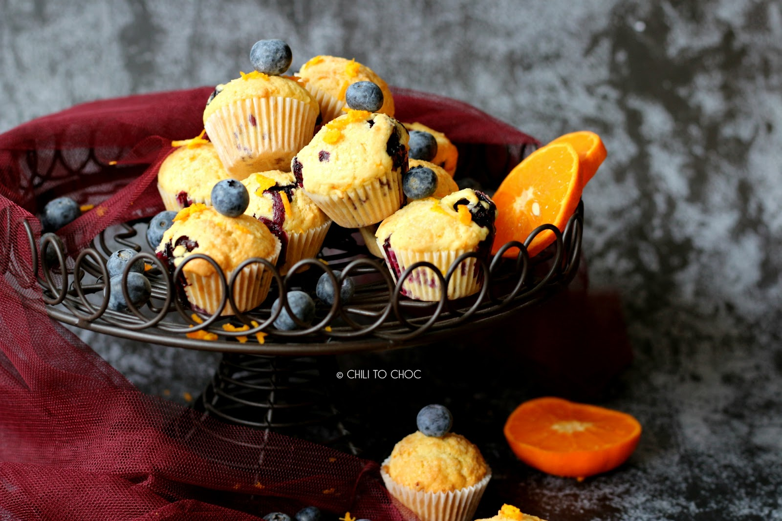 Mini Blueberry and Orange Muffins