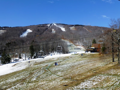 Okemo Mountain, Saturday November 11, 2017.  The Saratoga Skier and Hiker, first-hand accounts of adventures in the Adirondacks and beyond, and Gore Mountain ski blog.
