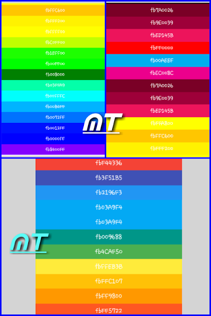 kode warna facebook