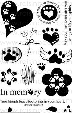 Paws to Remember Clear Stamps