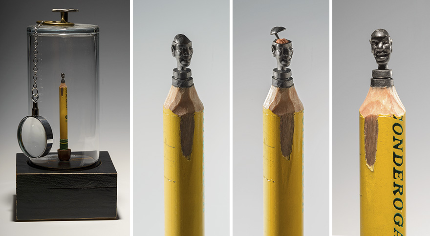 I Carved A Family Of Elephants Into A Pencil - Inside art