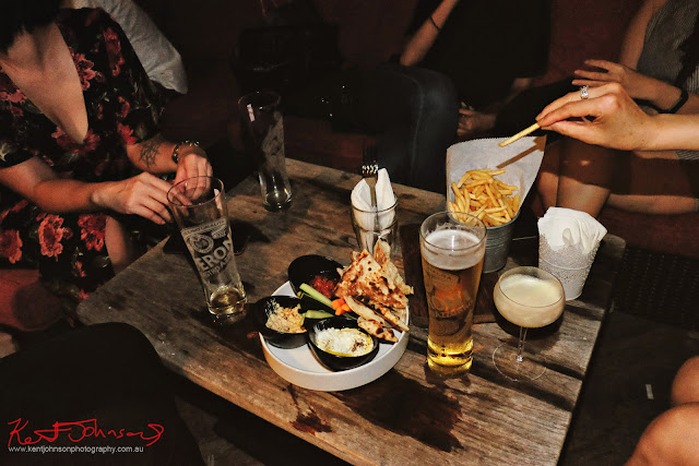 Bar food a screening Room Singapore. Photo by Kent Johnson for Street Fashion Sydney.