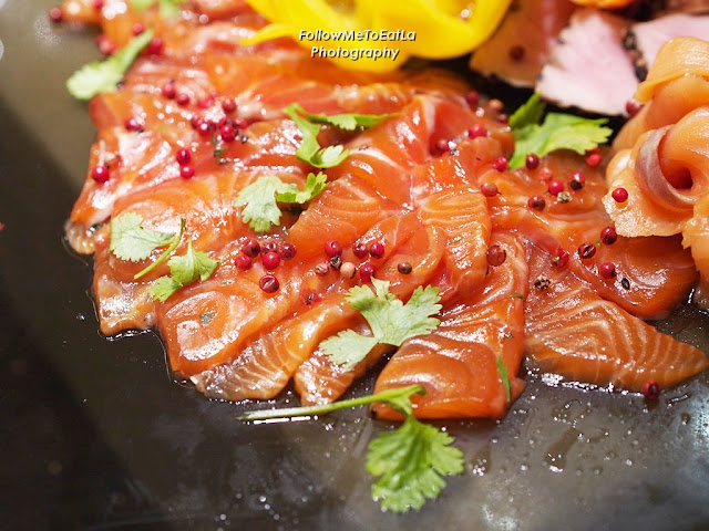 Cured Salmon With Pineapple & Palm Syrup