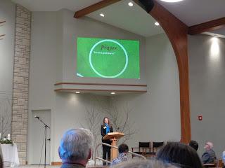 Jill Weaver preaching at Whitestone
