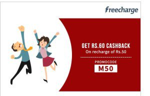 Freecharge Loot Offer Free Rs 60 Cashback on Recharge & Bill Payment of Rs 50