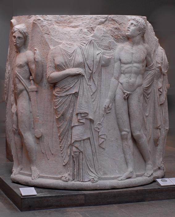 Columna templo Artemisa British Museum. Las 7 maravillas del mundo antiguo